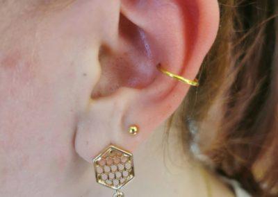 mid helix piercing